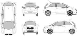 nissan skyline drawing outline blueprint door vector u0026 ford focus 4 door