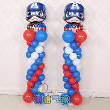 birthday helium balloons captain america foil helium balloons birthday party decor upright