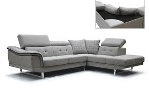 fabric sectional sofas with chaise vig modern divani casa gaviota grey fabric sectional sofa right
