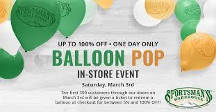 balloon bonanza up to 100 purchases at sportsman s balloon bonanza