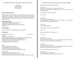 Resume For Customer Service Rep Customer Customer Service Supervisor Resume