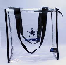 Dallas Cowboys Flags And Banners Dallas Cowboys Team Logo Nfl Clear Zip Tote Bag