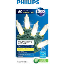 philips 60ct warm white led twinkle smooth mini string lights
