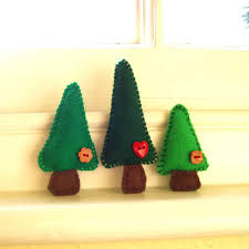 handmade felt tree magnets family of 3 on luulla