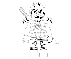 lego ninjago kai ninja with sword coloring page printable