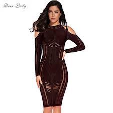vestido bandage aliexpress buy deer vestido bandage bodycon dress 2017