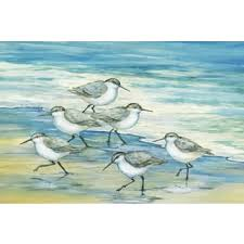portfolio canvas decor paul brent u0027surfside sandpipers u0027 framed