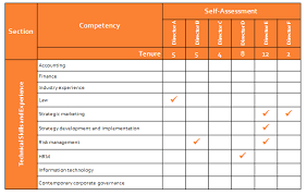 Resume Core Competencies List Director Skills Competency Assessment Effective Governance