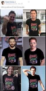 Funny Superhero Memes - avengers all wearing avengers t shirts i want that shirt
