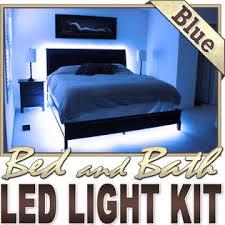 biltek 16 4 u0027 ft blue bedroom dresser headboard led lighting strip