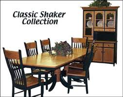 Shaker Dining Room Furniture Classic Shaker Dining Room Furniture Amish Dining Room Furniture