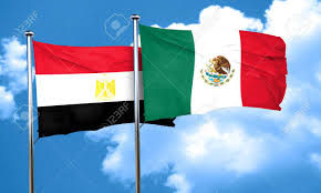 Image Of Flag Of Egypt Egypt Flag With Mexico Flag 3d Rendering Stock Photo Picture And