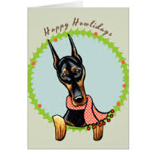 happy doberman cards invitations zazzle co uk