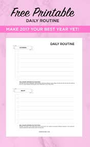 daily planner free worksheet printable teri miyahira
