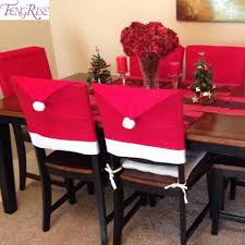 santa chair covers fengrise christmas chair covers santa clause decoration for