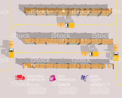warehouse floor plans free warehouse with front loader top view stock vector art 614605848