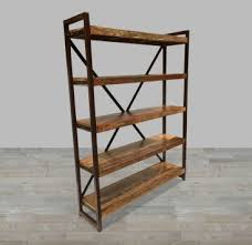 Iron And Wood Bookcase Bookcases Living Room