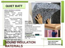 Ceiling Insulation Types by Sound Insulation Materials