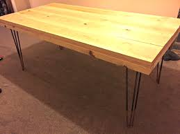 round rustic dining table diy tutorial rustic dining table with hairpin legs tea on the new