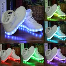 ladies light up shoes womens ladies mens lace up sneakers luminous light up trainers