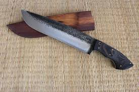 hand forged competition chopper bushcraft hunting knife large