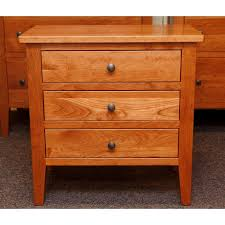 chelsea three drawer nightstand