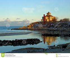 scenic beach and house maine royalty free stock photo image 7763575