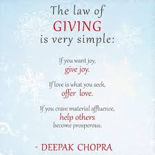 the of giving and receiving
