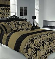 King Size Duvet Bedding Sets Apachi King Size Duvet Cover Bedding Set Black Gold Co