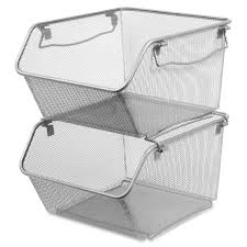 stackable basket storage bins u2022 storage bins