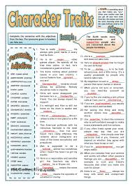 personality adjectives 2 matura z języka angielskiego