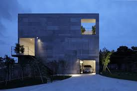 modern minimalist design of the the modern duplex house with