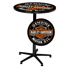Harley Home Decor by Harley Davidson H D Oil Can Cafe Pub Table