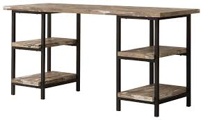 wood and metal writing desk coaster skelton modern rustic writing desk with metal frame and