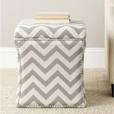 Chevron Storage Ottoman Seville Classics Charcoal Grey Storage Ottoman Set Of 2 Web291