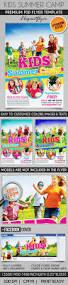 summer kids flyer template