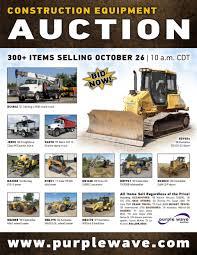 thursday october 26 construction equipment auction purplew