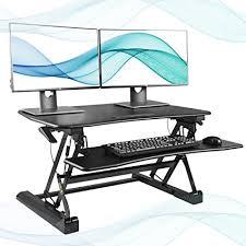 ssl xl desk dimensions amazon com fezibo black height adjustable standing desk 36 stand