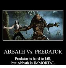 Immortal Meme - abbath vs predator predator is hard to kill but abbath is immortal