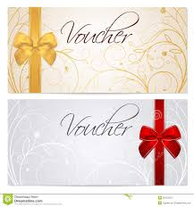 voucher gift certificate coupon template red b stock photos