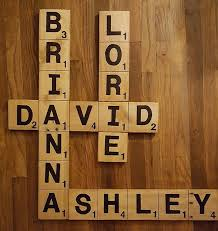 family name crossword wall made from pallet wood by