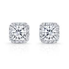white gold diamond earrings 18k white gold diamond halo stud earrings bova diamonds