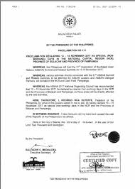 nov 13 to 15 special non working days in mm panga bulacan