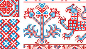 russian embroidery ornament set vectorific