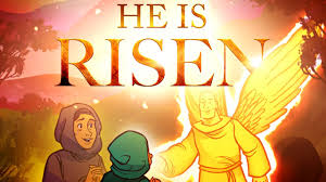 sunday lessons he is risen easter story for kids