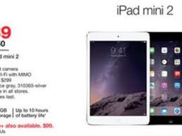 ipad air 2 black friday staples black friday 2014 deals include 239 apple ipad mini 2