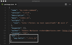 a guide to creating a nodejs command line package