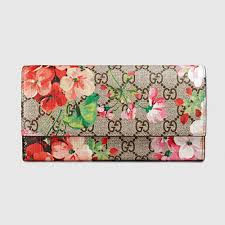 bloom wallet gucci gg blooms continental wallet purseblog
