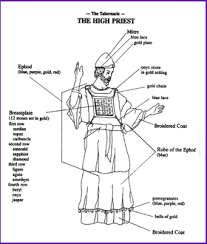 high priest garments color the clothing of the high priest kids korner biblewise