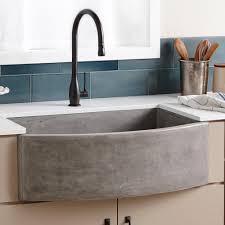 Farmhouse Quartet Curved ApronFront Sink Native Trails - Kitchen sink in bathroom